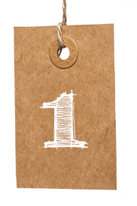 Card with Number 1