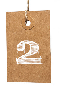Card with Number 2