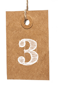 Card with Number 3