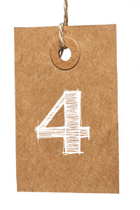 Card with Number 4