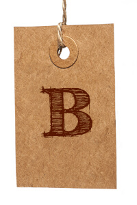 Card with Letter B