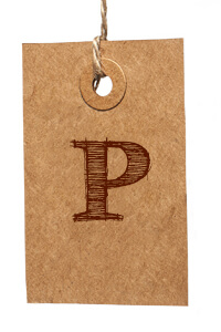 Card with Letter P