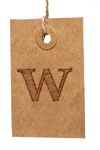 Card with Letter W