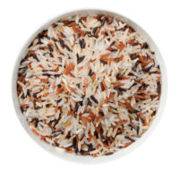 bowl of rice top view