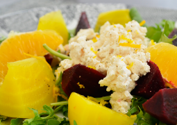 Beet and Orange Salad With Dairy-Free Ricotta