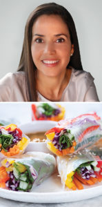 Dr. Rosane Oliveira and Eat-the-Rainbow Spring Rolls