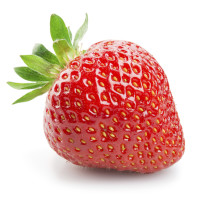 Fresh strawberry isolated on white background