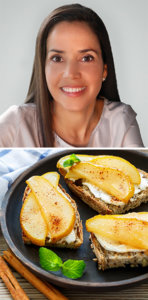 Dr. Rosane Oliveira and Roasted Pear Crostini With Cashew Cream