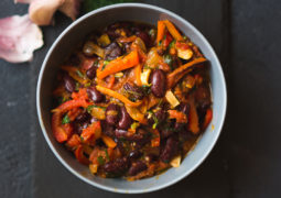 Slow Cooker Seven Veggie Chili
