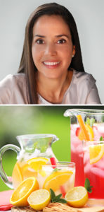 Dr. Rosane Oliveira and Strawberry and Cucumber Mint Lemonade